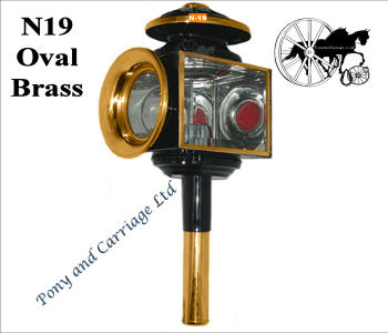 ... Horse And Carriage Lamp Style N19 Brass