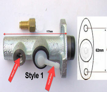 Horse Carriage Master Cylinder Style 1