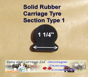 Horse Carriage Rubber Tyre Type 1