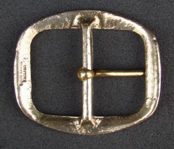 "Made In England Antique Large Brass Belt Buckles 1/"" 3//4/"" 44mm"