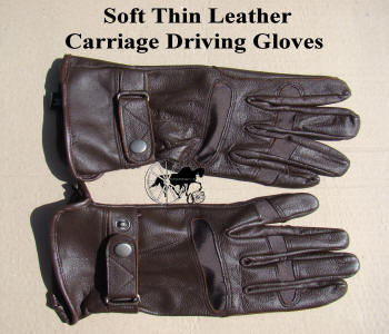 Carriage Driving Gloves Soft Thin Leather