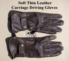 Soft Leather Carriage Driving Gloves