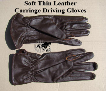 Soft Thin Leather Carriage Driving Gloves