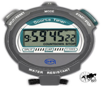 Horse Driving Trials Stop Watch