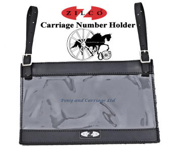 Zilco Horse Carriage Vehicle Number Holder White Metal Fittings
