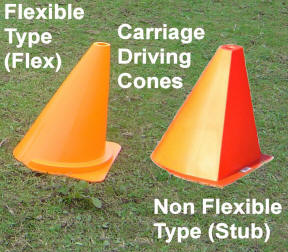 Carriage driving  Cones Flexible Type
