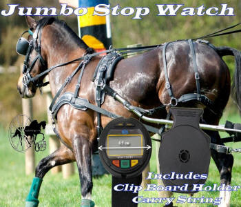 Horse driving trials competitor jumbo watch