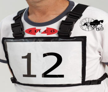 Carriage Driving Competition Number Vest Front