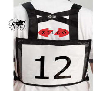 Carriage Driving Competition Number Vest Back