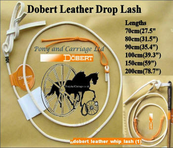 Leather Whip Lash White