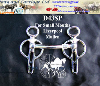 Miniature Liverpool Mullen Mouth Carriage Driving Bit D43SP