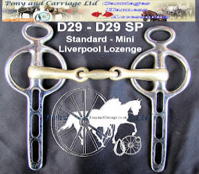 Mini and Standard Lozenge Mouth Liverpool Carriage Driving Bit D29 D29SP