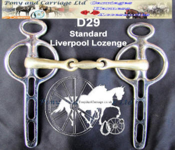 Standard Liverpool Lozenge Mouth Carriage Driving Bit D29