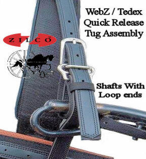 Horse Harness Quick Release Shaft Tugs