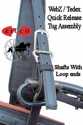 Horse Harness Quick Release Shaft Loops