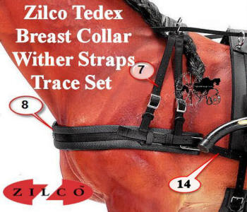 Zilco Complete Breast Collar Wither Strap and Trace Set