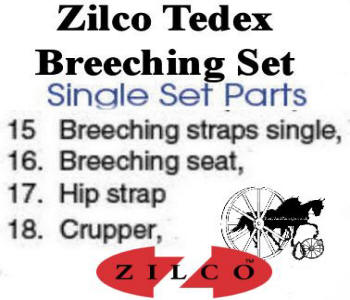 Zilco Tedex Harness Complete Breeching Set List
