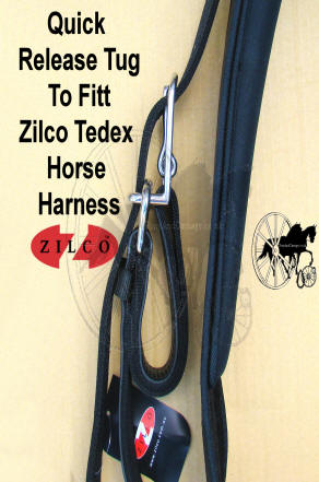 Horse Harness Quick Release Shaft loops Tugs Assembly