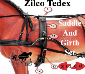 Zilco Tedex Harness Complete Saddle and Girth Set