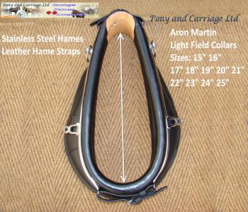 Black Leather Horse Driving Single Collar /& Hames