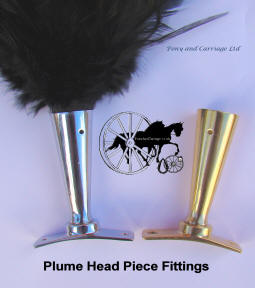 Feather Plume Holders Brass Carriage Driving