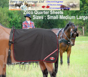 New Zilco Carriage Driving Harness Waterproof Quarter Sheet Rug