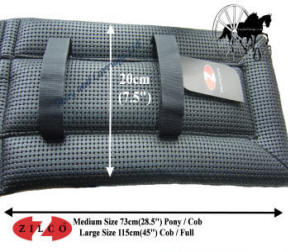Zilco Wide Fit Black Waffle Harness Saddle Pad Liner