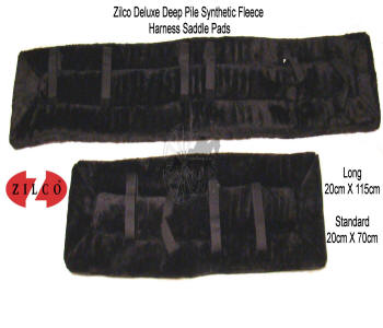 Zilco Black Fleece Horse Harness Saddle Pads