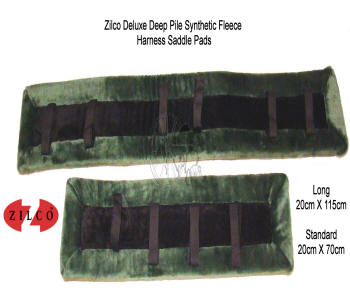 Zilco Green Fleece Horse Harness Saddle Pads