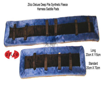 Zilco Royal Blue Fleece Horse Harness Saddle Pads