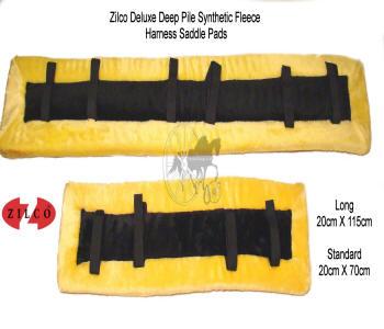 Zilco Yellow Fleece Horse Harness Saddle Pads