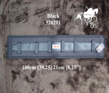 Zilco Black Memory Foam Horse Harness Saddle Pads