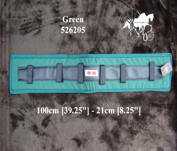 Zilco Green Memory Foam Horse Harness Saddle Pads