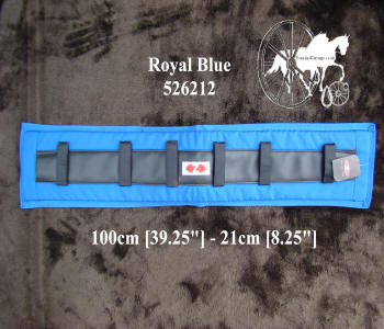 Zilco Royal Blue Memory Foam Horse Harness Saddle Pads