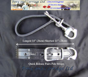carriage Driving Pairs Harness Pole Straps C-17