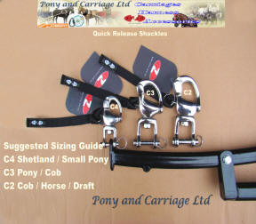 Carriage Driving Quick release Shackles